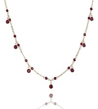 Annoushka 18Ct Yellow Gold And Ruby Nectar Cherry Droplet Necklace