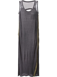 8Pm Perforated Back Dress Grey