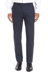 Ted Baker Men's London Classic Fit Flat Front Trousers Navy