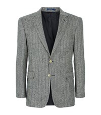 Polo Ralph Lauren Tweed Herringbone Jacket Male Black