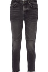 Golden Goose Deluxe Brand Happy Cropped Mid Rise Straight Leg Jeans Black