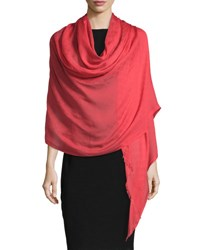 Gucci Amelux Fringed Stole Red