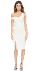 Nicholas Ponte One Shoulder Dress White
