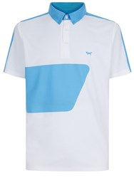 Wolsey Colour Block Polo White