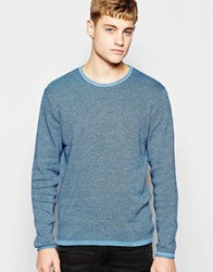 Jack And Jones Jack And Jones Knitted Jumper In Mixed Yarns Imperialblue
