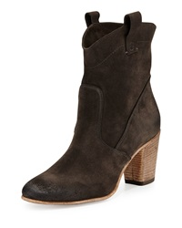 Alberto Fermani Chiara Slouchy Suede Ankle Boot Anthracite