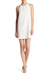 Jack Browning Floral Lace Shift Dress White