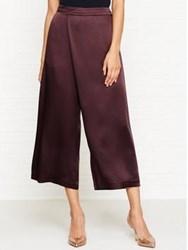 Jigsaw Satin Wrap Front Trousers Morelleo Cherry Morello Cherry