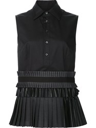 Dsquared2 Pleated Shirt Mini Dress Black