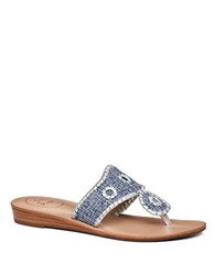 Jack Rogers Madeline Woven Thong Sandals Blue