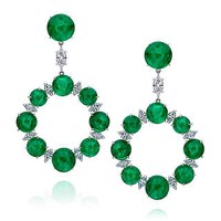 Nina Runsdorf Emerald Earrings Green