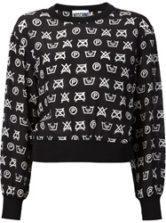 Moschino Laundry Instruction Print Top Black