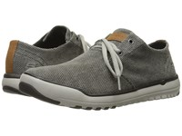 Skechers Relaxed Fit Oldis Stound Black Gray Canvas Men's Lace Up Casual Shoes