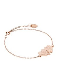 Alex Monroe Double Heart Anchor Bracelet Rose Gold