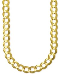 Macy's Men's Gauge Curb Chain Necklace In 10K Gold