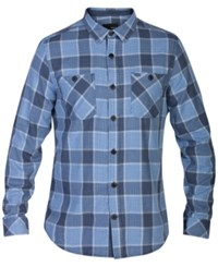 Hurley Men's Long Sleeve Landon Plaid Shirt Obsidian