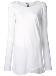 Rundholz Longsleeved Loose Fit T Shirt White