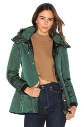 Add Down Jacket With Asiatic Raccoon Fur Dark Green