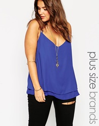 New Look Inspire Strappy Back Cami Cobalt