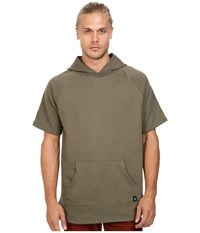 Akomplice West Short Sleeve Hoodie Military Green Men's Sweatshirt