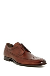 Mezlan Genuine Leather Wingtip Oxford Brown