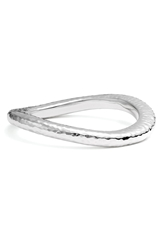 Simon Sebbag Hammered Skinny Wavy Bangle Sterling Silver