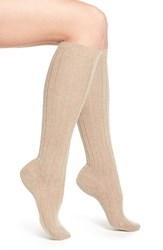 Women's Pantherella 'Tabitha' Cashmere Blend Knee Socks Beige Natural