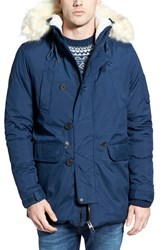 Men's Bellfield Technical Hooded Parka With Faux Fur Trim