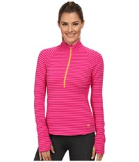 Mountain Hardwear Butterlicious Long Sleeve 1 2 Zip Top Haute Pink Women's Long Sleeve Pullover