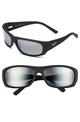Maui Jim 'Ikaika Polarizedplus 2' 64Mm Sunglasses Matte Black Grey