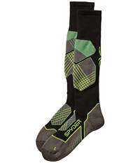 Spyder Explorer Sock Black Blue Bryte Yellow Men's Knee High Socks Shoes Multi