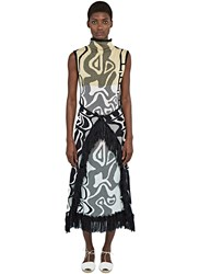House Of Had Fringed Wrap Dress Black