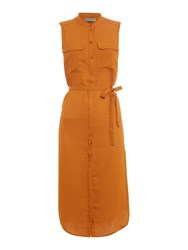 Vero Moda Justina Long Shirt Dress Orange