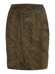 Noa Noa Knee Lenght Skirt Green
