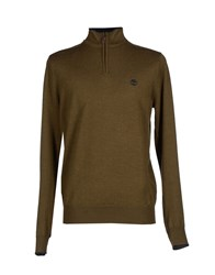 Timberland Knitwear Turtlenecks Men Military Green