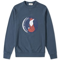 Maison Kitsune Dan Ah Kim Fox Moon Crew Sweat Blue