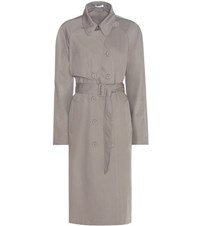 Tomas Maier Wool Trench Coat Grey