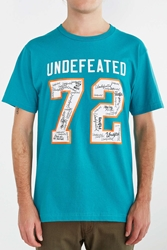 Undefeated Autographed 72 Tee Turquoise