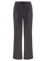 Mint Velvet Wide Leg Sports Trousers Grey