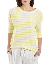 424 Fifth French Terry Striped Shirt Citron