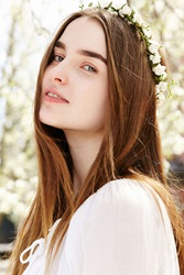 Urban Outfitters Grace Flower Crown White