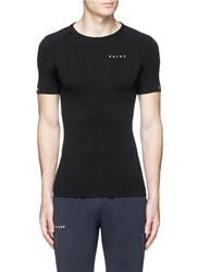 Falke 'Athletic' Short Sleeve Running Shirt Black