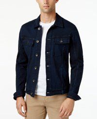 William Rast Men's Erwin Denim Jacket Black Sea