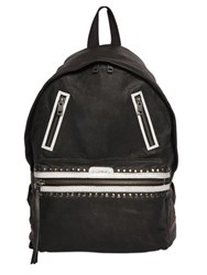 Diesel Studded Smooth Leather Backpack