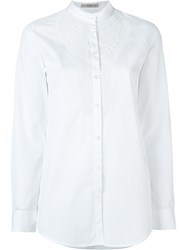 Etro Beaded Bib Shirt White