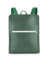 M R K T Evan Felt And Faux Leather Backpack Midnight Green