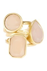 Vince Camuto Glass Stone Stack Rings Set Size 7 Pink