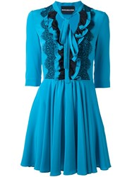 Marco Bologna Ruffled Layer Dress Blue
