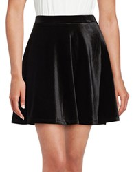 Michael Michael Kors Velvet Flared Mini Skirt Black