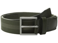 Cole Haan 35Mm Webbing Belt With Leather Tabs And Loop Fatigue Bungee Cord Men's Belts Green